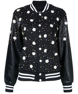Night Market | Embellishment Bomber Jacket Womens Size Xs Polyester/Cotton