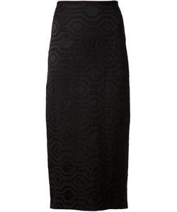 Sid Neigum   Geometric Pattern Jacquard Skirt