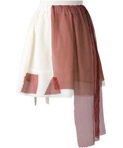 Area Di Barbara Bologna | Net Overlay Apron Detail Skirt