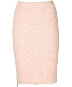 Koonhor | Quilted Chevron Pencil Skirt