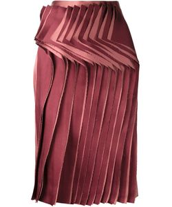Audra   Front Pleated Panel Skirt