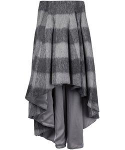 Dominic Louis | Plaid High-Low Skirt