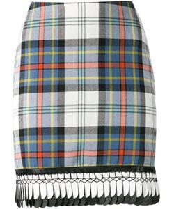 Danielle Romeril   Trimmed Hem Plaid Skirt