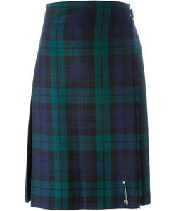 Le Kilt   Checked Pleated Midi Skirt