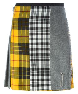 Le Kilt   Paneled Checked Pleated Skirt