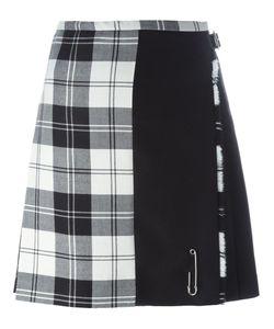 Le Kilt   Checked Paneled Pleated Skirt