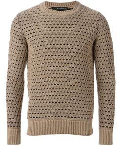 Jeordie's   Diamond Mesh Knit Sweater