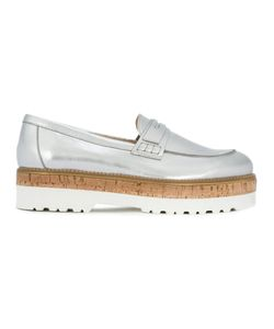 Hogan   Loafers Womens Size 38.5 Cork/Leather/Rubber