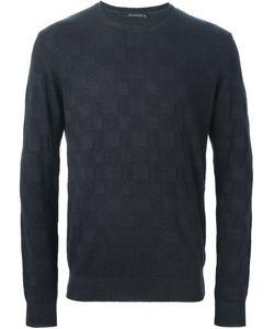 Jeordie's   Checked Jacquard Sweater