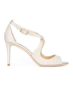 Jimmy Choo | Emily 85 Sandals Womens Size 40 Leather/Pvc