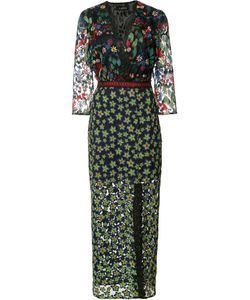 Saloni   Print Dress Womens Size 2 Polyester