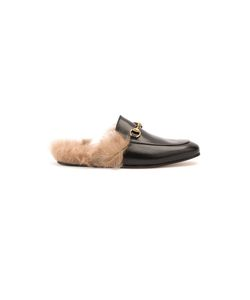 Gucci | Princetown Slippers Mens Size 7 Leather/Lamb Fur