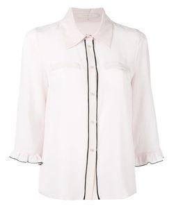 L'Autre Chose | Ruffled Trim Shirt Womens Size 38 Silk
