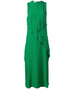 Cédric Charlier | Front Panel Sleeveless Dress Womens Size 40 Rayon