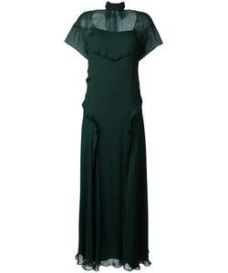 Cédric Charlier | Collar Band Maxi Dress Womens Size 40 Silk/Polyamide/Acetate