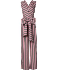 Tome | Wide Stripe Sleeveless Jumpsuit Womens Size 8 Cotton