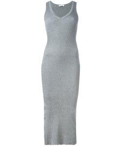 Mugler | Ribbed Knitted Dress Womens Size Small Cotton/Polyester/Viscose