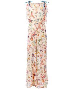 RED Valentino | Bird Print Jumpsuit Womens Size 38 Silk/Polyester