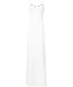 David Koma | Embroide Metal Detail Gown Womens Size 12 Acrylic/Viscose