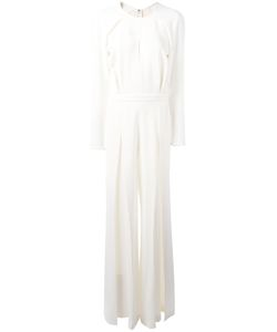 Elie Saab | Fla Jumpsuit Womens Size 38 Acetate/Viscose/Spandex/Elastane/Silk