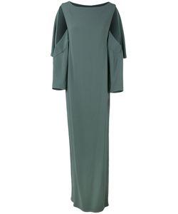 Chalayan | Open Sleeve Dress Womens Size 38 Acetate/Viscose