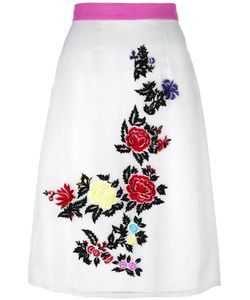 House Of Holland | Rose Embroidery Straight Skirt Womens Size 8