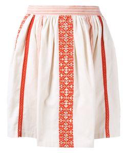 Manoush | Embroide Mini Skirt Womens Size 38 Cotton