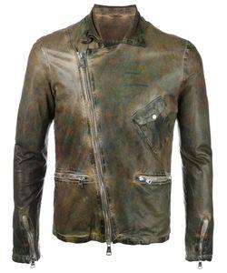 Giorgio Brato   Leather Jacket Mens Size 48 Cotton/Leather/Nylon