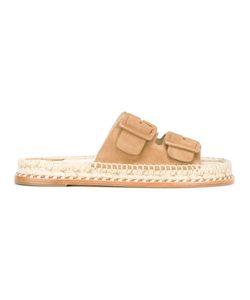 Paloma Barceló | Rachel Espadrille Sandals Womens Size 38 Suede/Leather/Straw