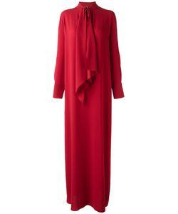 Sonia Rykiel | Pussy Bow Maxi Dress Womens Size 46 Polyester/Triacetate