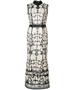 Marchesa Notte | Embroide Dress Womens Size 4 Polyester