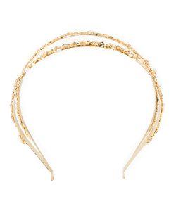 Rosantica   Headband Duo Womens 24kt Plated Metal/Pearls