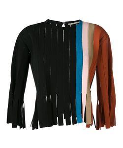 Marco de Vincenzo | Stripe Fringe Detail Sweater Womens Size 42