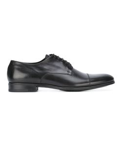 FABI | Classic Derbies Mens Size 42.5 Calf Leather/Leather/Rubber