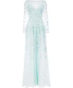 Zuhair Murad | Sequin Embroidery Gown Womens Size 42 Silk/Polyamide