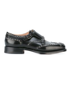 Church's | Studded Monk Shoes Mens Size 8 Calf Leather/Leather/Metal Other