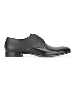 FABI | Grained Derbies Mens Size 46 Patent Leather/Leather/Rubber