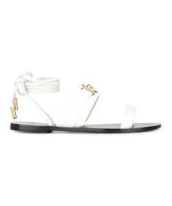Versace | Medusa Head Sandals Womens Size 39 Leather/Metal
