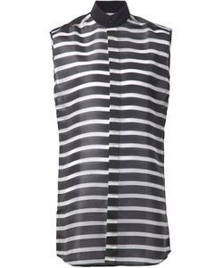 Comeforbreakfast | Sleeveless Striped Long Shirt