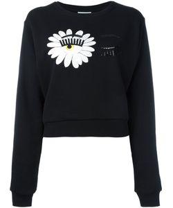 Chiara Ferragni   Wink Patches Sweatshirt Womens Size Medium Cotton