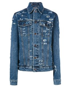Forte Forte | Over-Sized Slogan Denim Jacket Womens Size Small Cotton