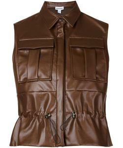 Koonhor | Faux Leather Drawstring Shirt