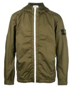 Stone Island   Hooded Zip Jacket Mens Size Xl Polyamide-8/Polyurethane Resin