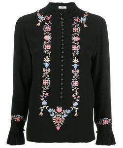 Vilshenko | Embroidery Blouse Womens Size 10 Silk