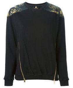 Horo | Printed Patch Zipped Sweatshirt