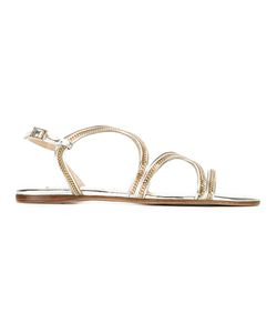 Jimmy Choo | Nickel Sandals Womens Size 39 Leather