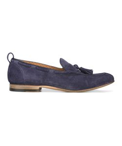Silvano Sassetti   Tassel Loafers Mens Size 7 Leather/Rubber/Suede