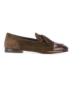 Alberto Fasciani   Tasseled Loafers Womens Size 40 Calf Leather/Suede/Leather