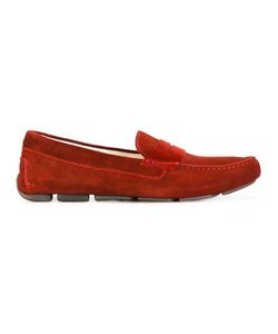 Santoni | Classic Penny Moccasins Size 9 Leather/Suede/Rubber
