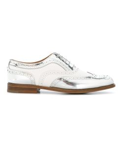 Church's | Paneled Brogues Womens Size 35 Calf Leather/Leather/Patent Leather